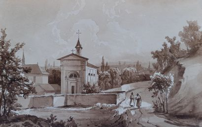 Ecole du XIXème siècle  Marines et paysages...