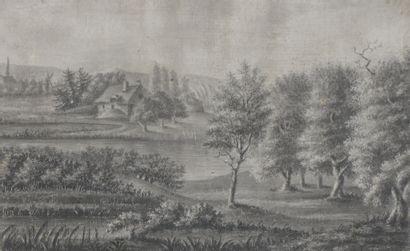 Ecole FLAMANDE du XVIIIème siècle  Vue de...