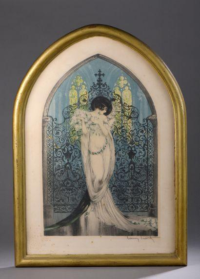 Louis ICART (1888-1950)  Tosca. 1928.  Pointe...