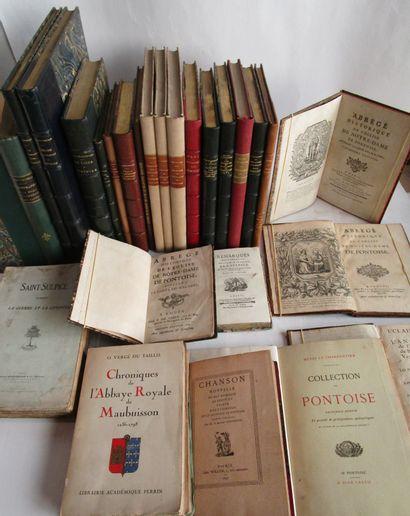 Lot d'ouvrages sur Pontoise et le Vexin,...