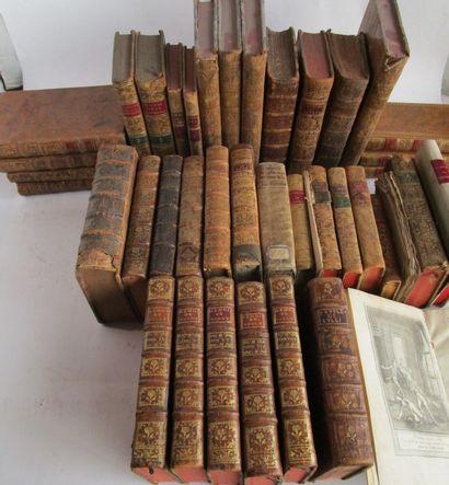 Lot d'ouvrages du XVIIIe siècle dépareil...