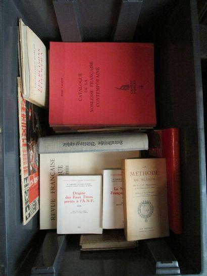 Lot d'ouvrages d'héraldique