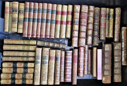 Ensemble de 75 ouvrages reliés du XVIIIe...