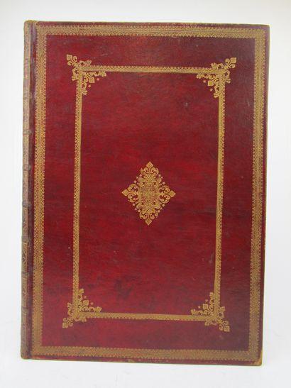 Reliure maroquin rouge XVIIIe siècle. Format...