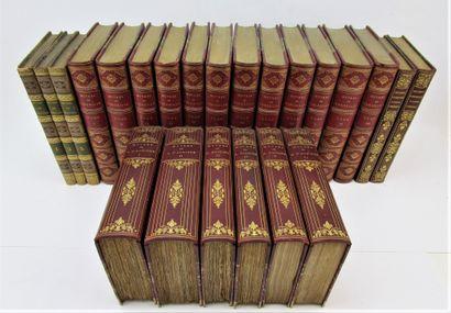 Ensemble d'ouvrages de littérature reliés,...