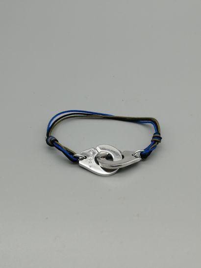 DINH VAN  Bracelet paré de deux motifs en...