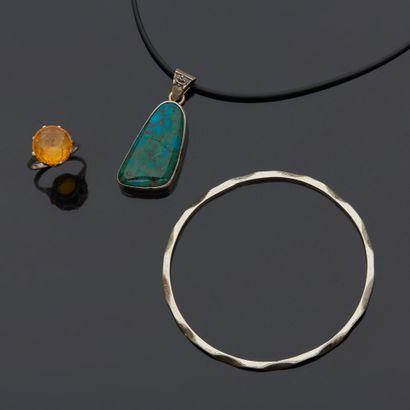 Lot de bijoux en argent 2nd titre 800‰ comprenant...