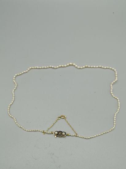 Collier de perles probablement fines, non...