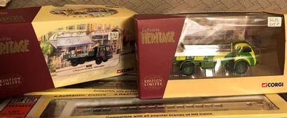 Matériel ferroviaire HO et camions divers...
