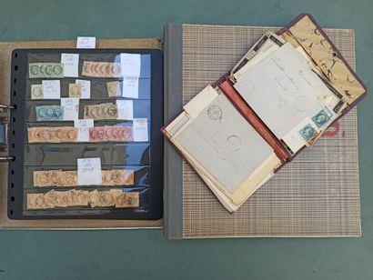 Ensemble de timbres français et belges, comprenant...