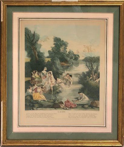 Jean-Baptiste SCOTIN, d'après Nicolas LANCRET...