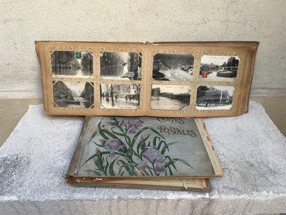 Lot de cartes postales de Paris, portraits...