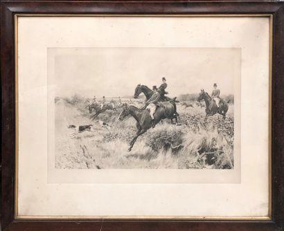 D'après Blinks (1860-1912)  Scènes de chasse...