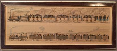 Ecole française du XIXème siècle  Train de...