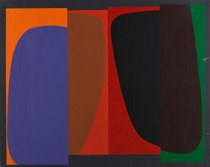 Joël FROMENT (1938)  Sans titre  Acrylique sur toile signée au dos  130 x 162 c...