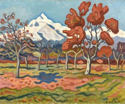 Henri de SAINT-DELIS (1878-1949) Plaine d'Aigle,...
