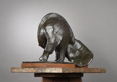 Rembrandt BUGATTI (1884-1916) Le Grand Fourmilier, modèle créé en 1909 Epreuve en...