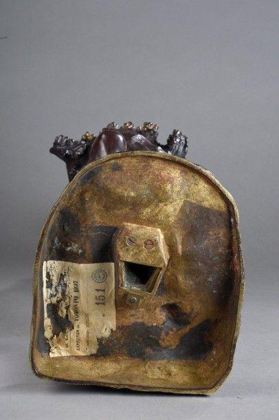 Raymond Léon RIVOIRE (1884-1966) Bacchante ou Femme au panier de pampres Bronze...