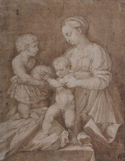 Ecole du NORD du XVIIème siècle La Vierge...