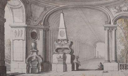 Jacques de LAJOUE (Paris 1686-1761) Dessinateur...