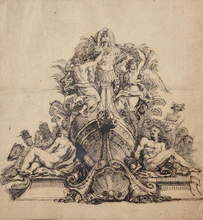 Ecole FRANCAISE du XVIIIème siècle La proue...