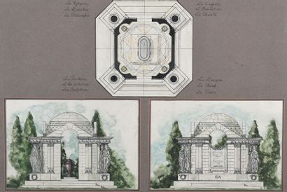 Ecole FRANCAISE du XIXème siècle, dans le...