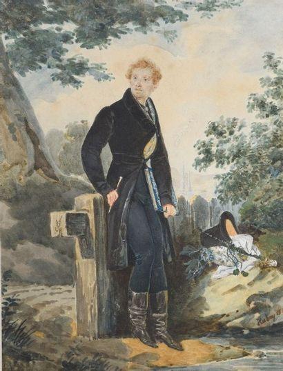 Louis François AUBRY (1767-1851) Portrait...