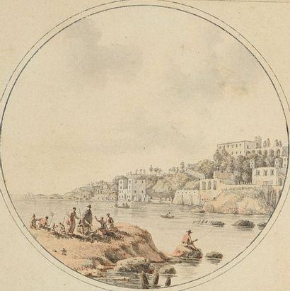 Christophe CIVETON (Paris 1796-1831) Pêcheurs...