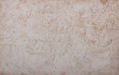 Ecole ITALIENNE du XVIIème siècle Scène de...