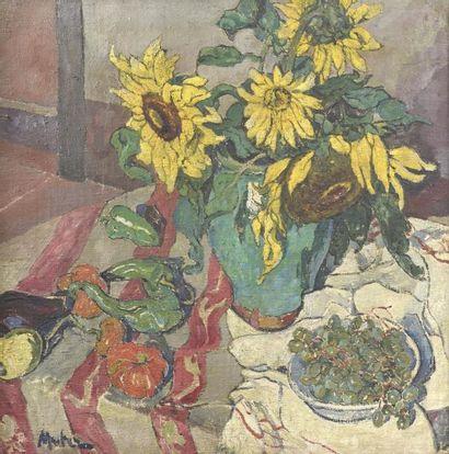 Mela MUTER (1876-1967)  Les Tournesols sur...