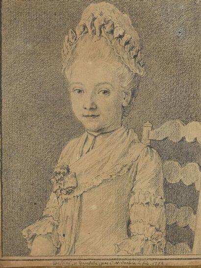 Charles Nicolas COCHIN Le JEUNE (Paris 1715-1790)  Portrait de Nicolas Tournery,...