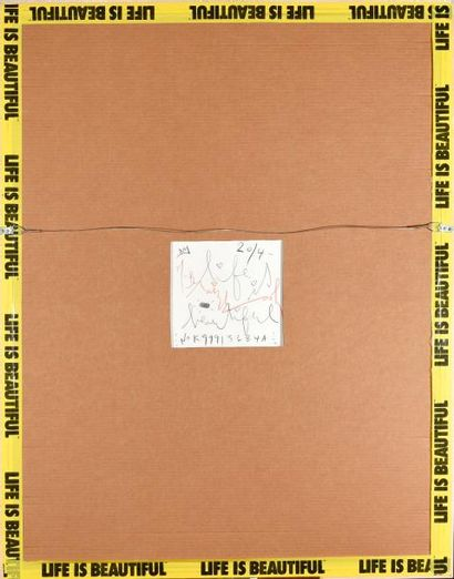MR. BRAINWASH (1966) Einstein Acrylique et technique mixte sur papier Signé, contresigné,...