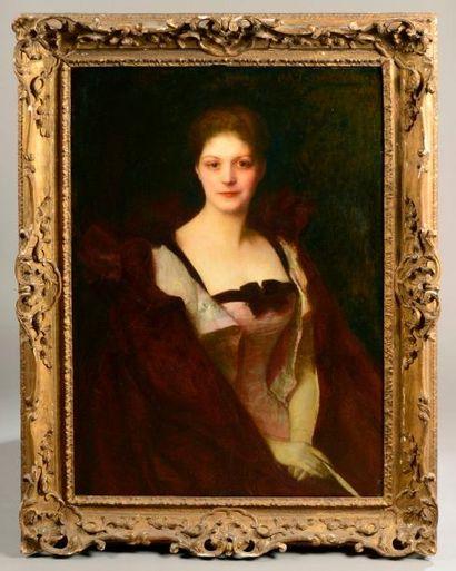 Pascal DAGNAN-BOUVERET (1852-1929) Portrait de Mme Silhol Huile sur toile, signée...