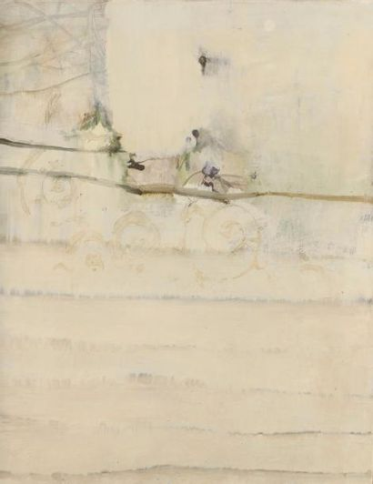 Abderrahim YAMOU (né en 1959) SANS TITRE, 2000 Huile sur toile contrecollée sur panneau...