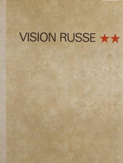 VISION RUSSE, 1973 Ouvrage sous emboitage comprenant huit lithographies par Annenkov,...