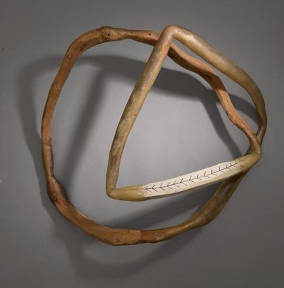 Toni GRAND (1935-2005) SANS TITRE, 24 MARS 1988, 1988 Bois, poisson, acrylique et...