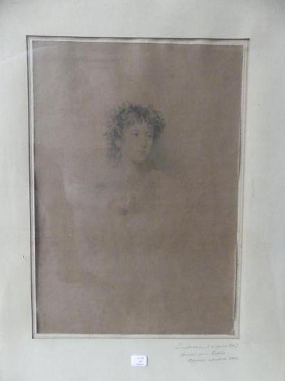 D'après Thomas LAWRENCE Portrait de femme...