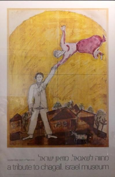 Lot de 3 affiches comprenant : - Chagall,...