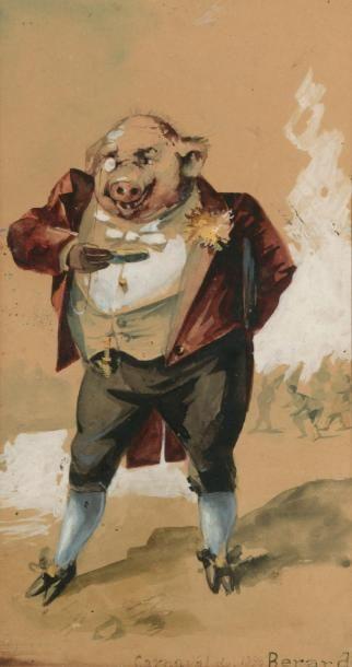 François BERARDI (XIXème siècle) Le cochon...