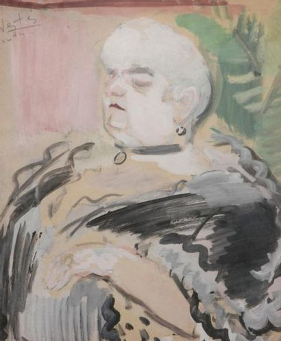 Marcel VERTES (1895-1961) La baronne Aquarelle...