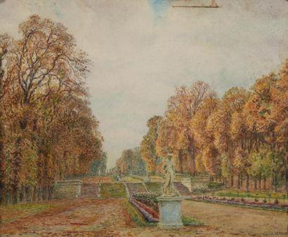 Gabriel DÉNEUX (1856-1926) Vue du Parc...
