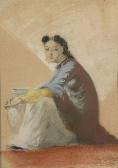 Ecole du début du Xxème siècle Japonaise...