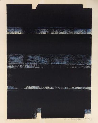 Pierre SOULAGES (né en 1919) LITHOGRAPHIE N°32, 1974 Lithographie en couleur sur...