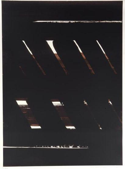 Pierre SOULAGES (né en 1919) SERIGRAPHIE N°24, 1999 Sérigraphie sur papier signé...