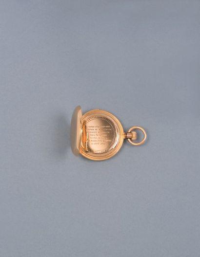 PATEK PHILIPPE & CO vers 1881 - Montre de poche, double boîtier en or rose 18K 750‰,...