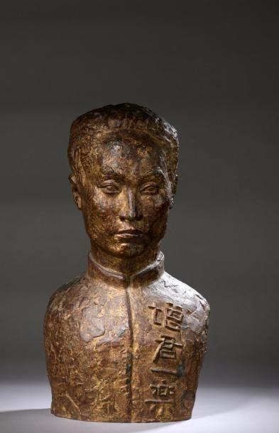 Marguerite LAVRILLIER-COSSACEANU (1893-1980)   LE POETE CHINOIS, 1923  Buste en...