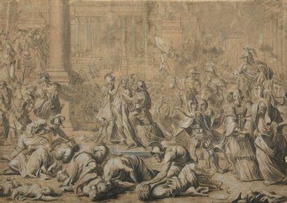 École ROMAINE du XVIIe siècle  Scène de...