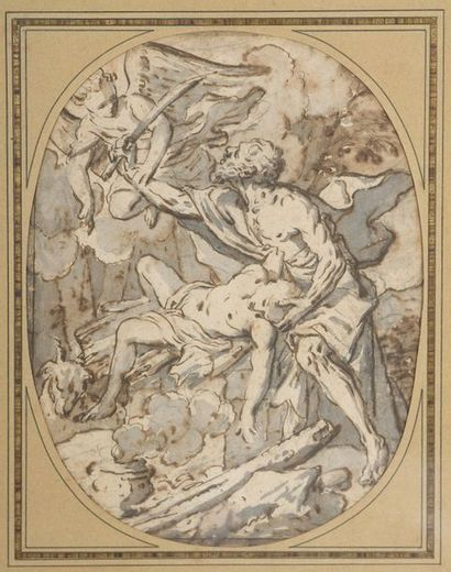 École ITALIENNE du XVIIIe siècle  Le sacrifice...