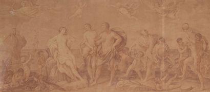 École FRANCAISE du XVIIIe siècle  Bacchus...