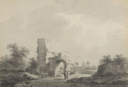 Nicolaas WICART (Utrecht 1748-1815)  Promeneurs...